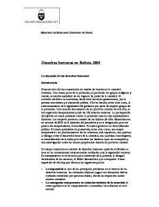 Derechos humanos en Bolivia, 2003