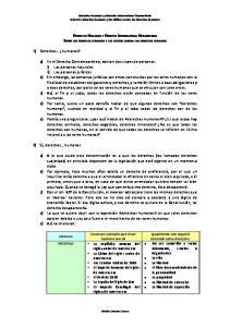 Derechos Humanos y Derecho Internacional Humanitario Sobre los derechos humanos y los delitos contra los derechos humanos