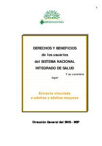DERECHOS Y BENEFICIOS de los usuarios del SISTEMA NACIONAL INTEGRADO DE SALUD