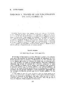 DERECHOS Y DEBERES DE LOS FUNCIONARIOS EN INGLATERRA (1)