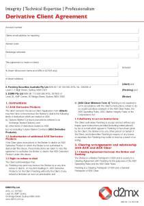 Derivative Client Agreement