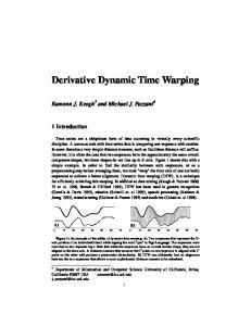 Derivative Dynamic Time Warping