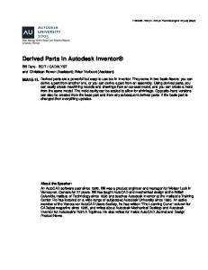 Derived Parts in Autodesk Inventor