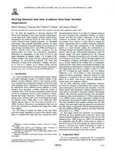 Deriving historical total solar irradiance from lunar borehole temperatures