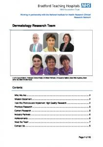 Dermatology Research Team
