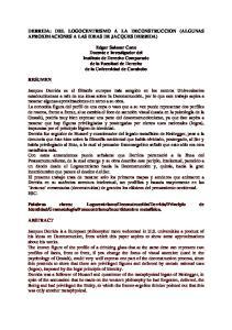 DERRIDA: DEL LOGOCENTRISMO A LA DECONSTRUCCION (ALGUNAS APROXIMACIONES A LAS IDEAS DE JACQUES DERRIDA)