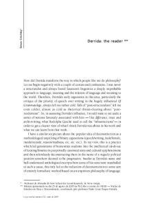 Derrida: the reader **