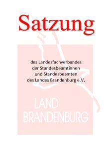 des Landesfachverbandes der Standesbeamtinnen und Standesbeamten des Landes Brandenburg e.v
