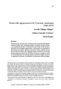 Desarrollo agropecuario de Caucasia- Antioquia