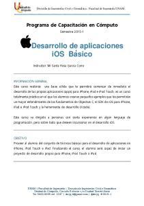 Desarrollo de aplicaciones ios Basico