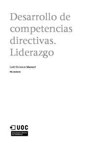 Desarrollo de competencias directivas. Liderazgo