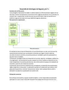 Desarrollo de Estrategias de Negocio y de T.I
