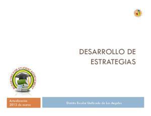 DESARROLLO DE ESTRATEGIAS
