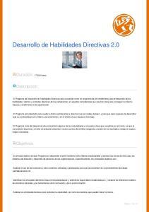 Desarrollo de Habilidades Directivas 2.0