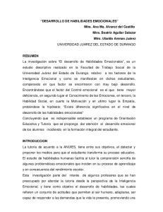 DESARROLLO DE HABILIDADES EMOCIONALES
