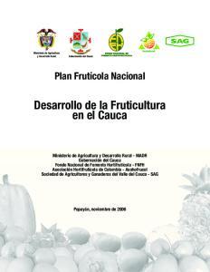 Desarrollo de la Fruticultura en el Cauca