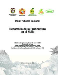 Desarrollo de la Fruticultura en el Huila