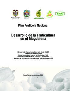 Desarrollo de la Fruticultura en el Magdalena