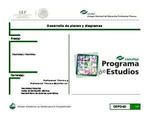 Desarrollo de planos y diagramas