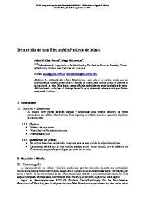 Desarrollo de una ElectroMioPrótesis de Mano