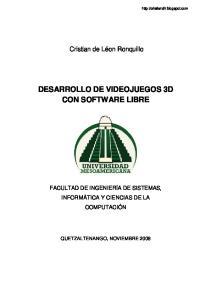 DESARROLLO DE VIDEOJUEGOS 3D SOFTWARE LIBRE