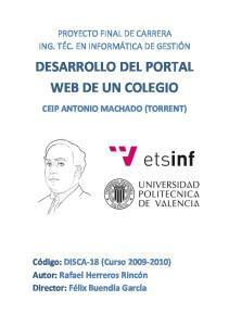 DESARROLLO DEL PORTAL WEB DE UN COLEGIO