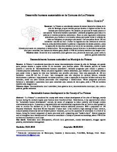 Desarrollo humano sustentable en la Comuna de La Pintana