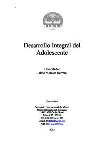 Desarrollo Integral del Adolescente