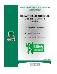 DESARROLLO INTEGRAL DEL ESTUDIANTE