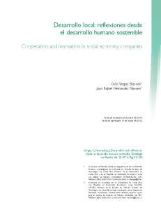 Desarrollo local: reflexiones desde el desarrollo humano sostenible