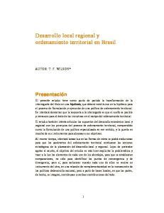 Desarrollo local regional y ordenamiento territorial en Brasil