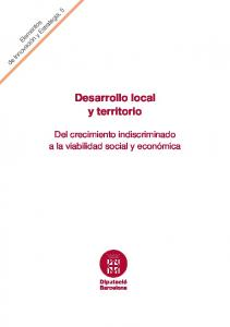 Desarrollo local y territorio