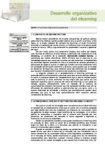 Desarrollo organizativo del elearning