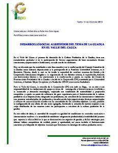 DESARROLLO SOCIAL ALREDEDOR DEL TEMA DE LA GUADUA EN EL VALLE DEL CAUCA