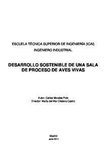 DESARROLLO SOSTENIBLE DE UNA SALA DE PROCESO DE AVES VIVAS