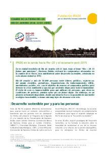 Desarrollo sostenible por y para las personas