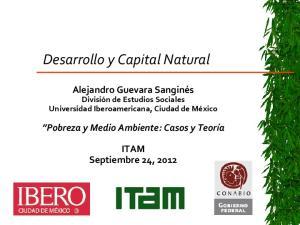 Desarrollo y Capital Natural