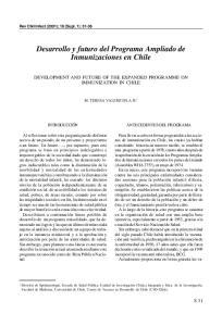 Desarrollo y futuro del Programa Ampliado de Inmunizaciones en Chile