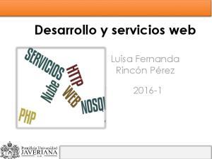 Desarrollo y servicios web