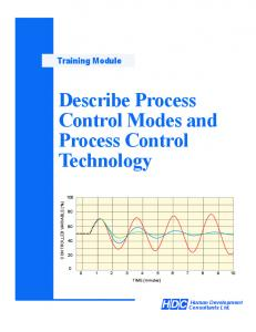 Describe Process Control Modes and Process Control Technology