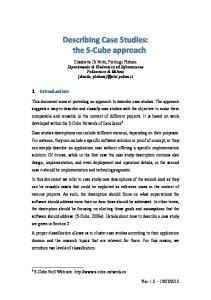 Describing Case Studies: the S Cube approach