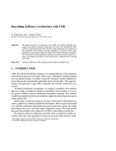 Describing Software Architecture with UML