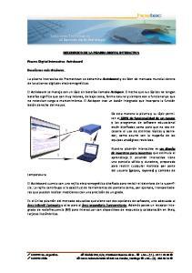 DESCRIPCION DE LA PIZARRA DIGITAL INTERACTIVA
