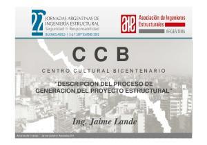 DESCRIPCION DEL PROCESO DE GENERACION DEL PROYECTO ESTRUCTURAL