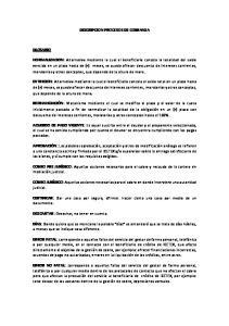 DESCRIPCION PROCESOS DE COBRANZA