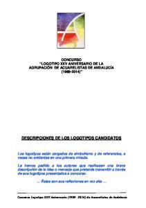 DESCRIPCIONES DE LOS LOGOTIPOS CANDIDATOS