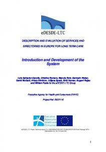 DESCRIPTION AND EVALUATION OF SERVICES AND DIRECTORIES IN EUROPE FOR LONG TERM CARE