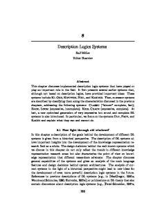 Description Logics Systems