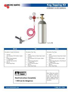 Description: Tap 1 Keg E D System American Sankey Keg Coupler