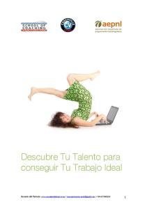 Descubre Tu Talento para conseguir Tu Trabajo Ideal